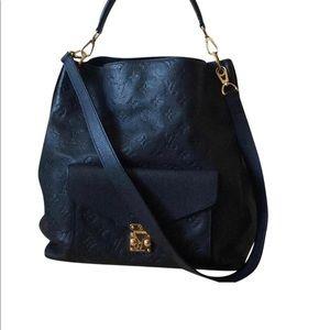 Authentic Louis Vuitton Empreinte Navy Metis Hobo